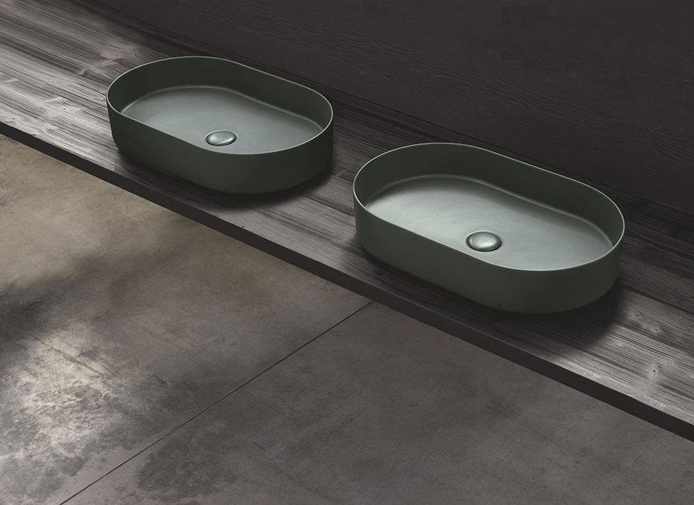 Xu hướng sắc màu Terre Di Cielo trong thiết kế phòng tắm