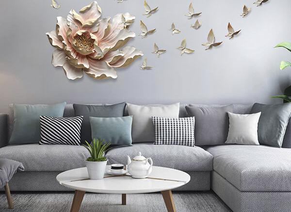 Ý tưởng trang trí tường phòng khách và phòng ngủ ấn tượng nhất 2020