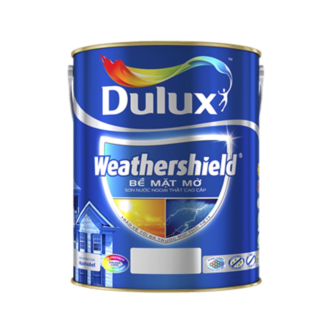 Sơn Ngoại Thất cao cấp Dulux Weathershield 5L - Bề Mặt mờ BJ8-25155