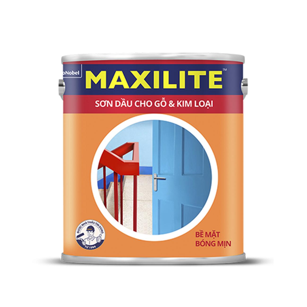 SƠN DẦU CHO GỖ & KIM LOẠI MAXILITE 0.45 LÍT