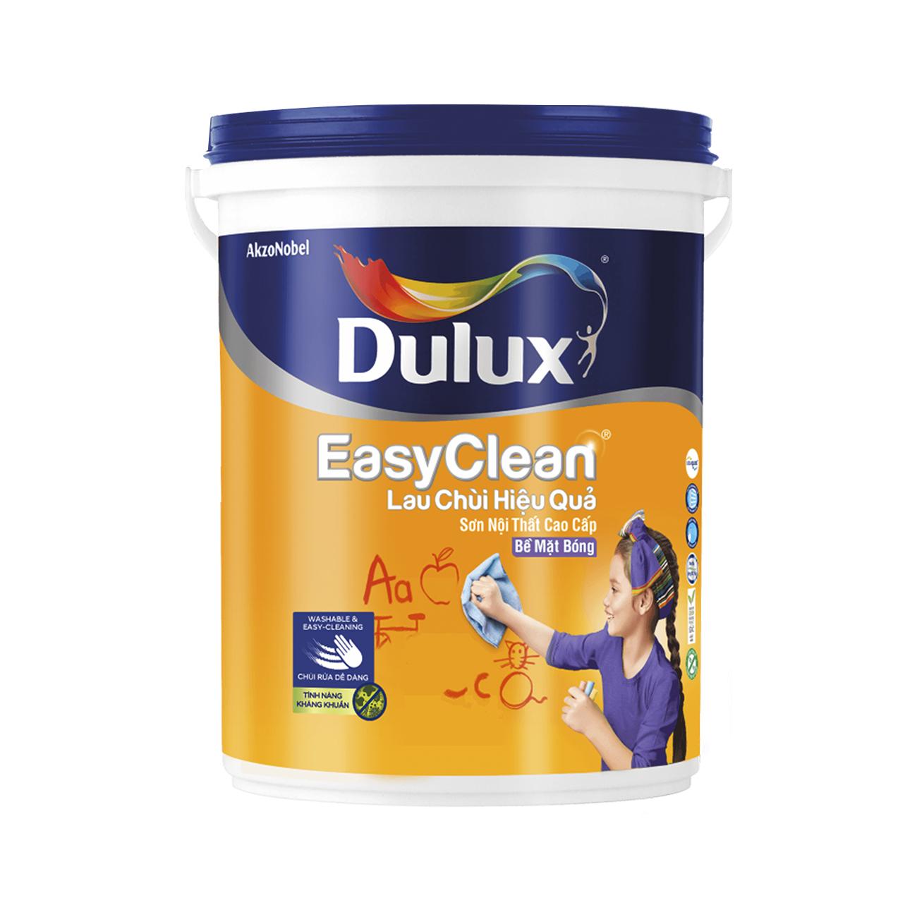 Sơn nội thất Dulux EasyClean lau chùi hiệu quả bóng 5L