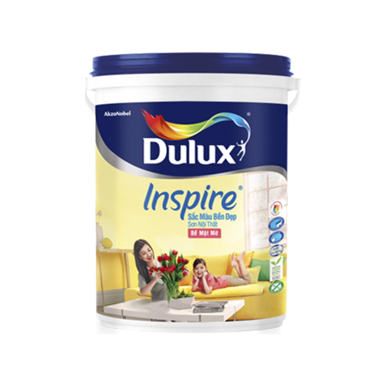 Dulux Inspire Nội Thất Sắc Màu Bền Đẹp Bề Mặt Mờ 5L