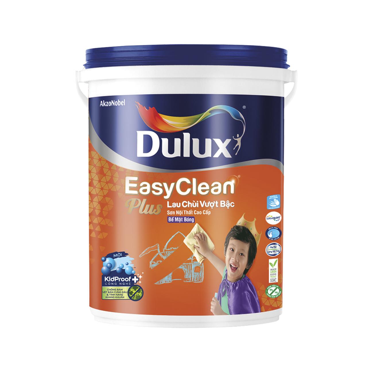 Sơn nội thất Dulux EasyClean lau chùi vượt bậc bóng 5L