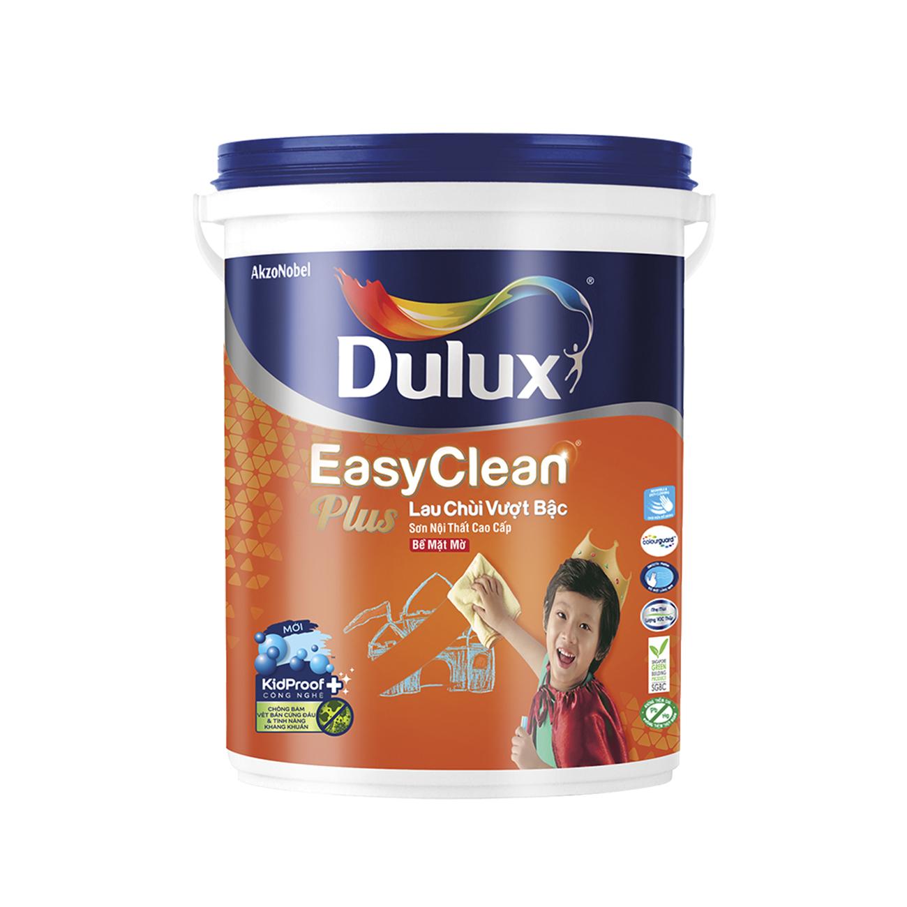 Sơn nội thất Dulux EasyClean lau chùi vượt bậc mờ 5L