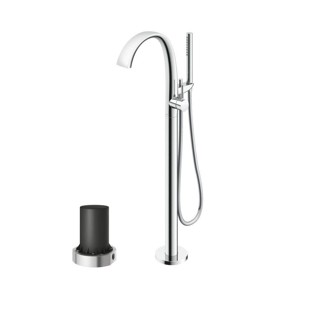 Vòi xả bồn nóng lạnh kèm sen tắm Matsu (loại đặt sàn) (kèm đế) Nicklel mờ -TOTO - TBP01301A#BN TBN01105B